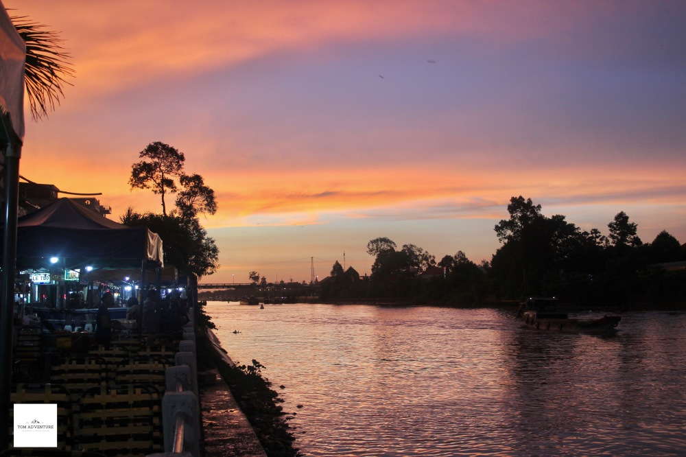 Sunset on the Mekong Delta- Vietnam